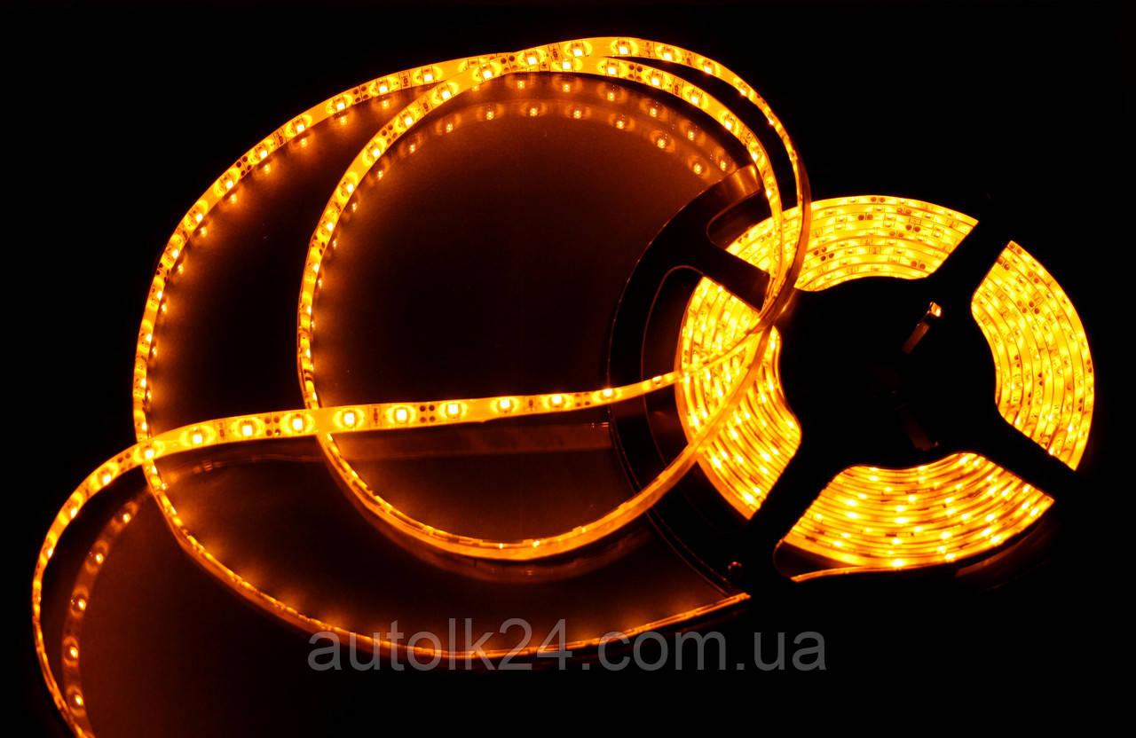 Светодиодная Led лента SMD 3528 24V (влагозащитная) Цвет Оранжевый ( Orange )