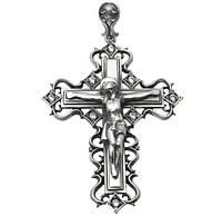 Серебряный крестик из серебра 925 пробы - нательный православный крестик главный символ веры