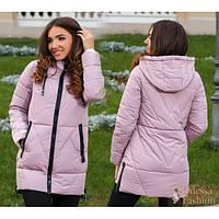 Куртка женская с молниями ЦА-028 розовый
