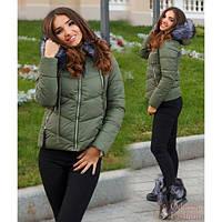 Куртка женская зима ЦА-027 хаки
