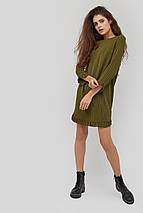 Женское прямое платье в полоску с отделкой рюшей (Niella crd), фото 2
