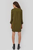 Женское прямое платье в полоску с отделкой рюшей (Niella crd), фото 3
