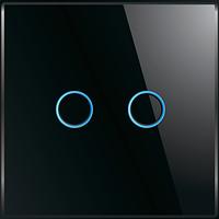 Лицевая панель для выключателя Livolo BB-C7-C2-12 Black