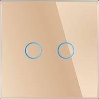 Лицевая панель для выключателя Livolo BB-C7-C2-13 Golden