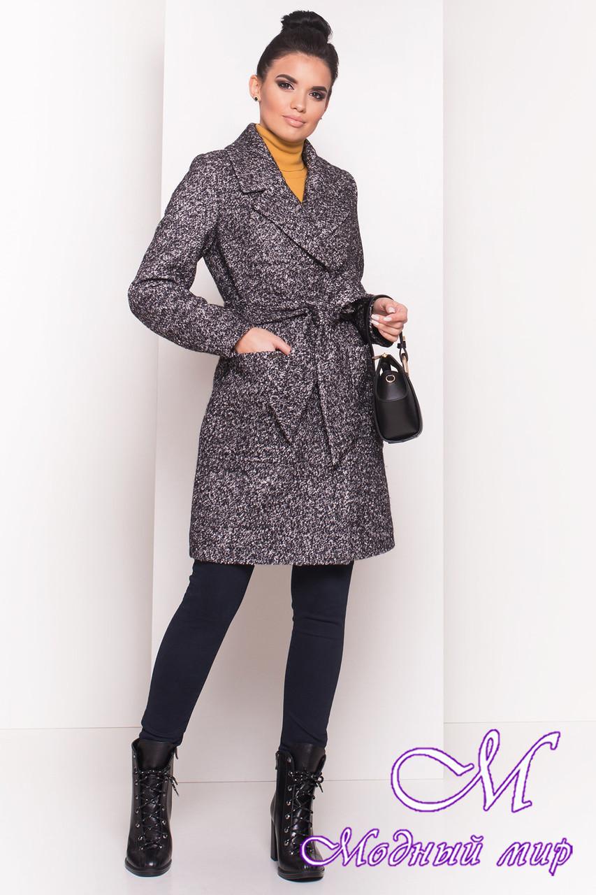 Демисезонное теплое пальто женское (р. S, M, L) арт. Мила 5698 - 38010