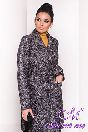 Демисезонное теплое пальто женское (р. S, M, L) арт. Мила 5698 - 38010, фото 2