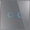 Лицьова панель для вимикача Livolo BB-C7-C2-15 Gray