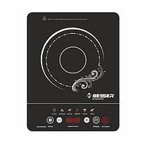 Электроплита инфракрасная Besser 10249, стеклокерамическая, глянцевая, мощность 2000W, размер 28*36*6.5, кухонная плита, плита переносная