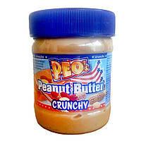 Арахисовая паста Peo's peanut butter crunchy (с кусочками арахиса) Германия 340г