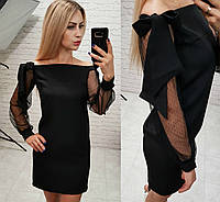 """женское стильное платье  с открытыми плечами  (жіноче плаття ) """"Милашка"""""""