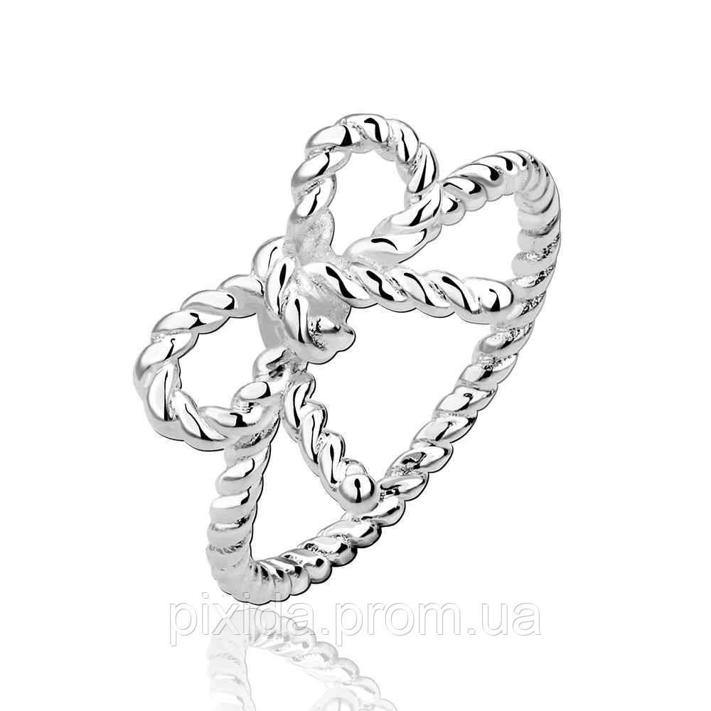 Кольцо Бантик покрытие 925 серебро пробы