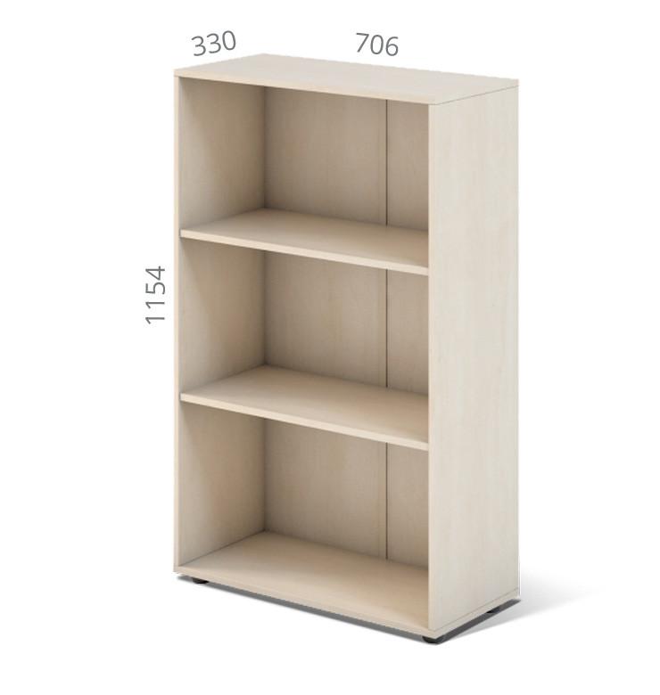 Шкаф открытый серии Сенс модель S4.00.11 ТМ MConcept