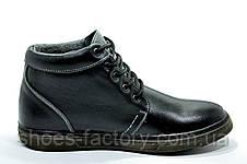 Ботинки зимние в стиле Ecco мужские на меху, Black, фото 2