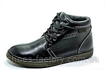 Ботинки зимние в стиле Ecco мужские на меху, Black, фото 3