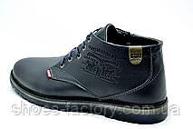 Ботинки мужские в стиле Levi's, Зимние (Темно-синие), фото 2