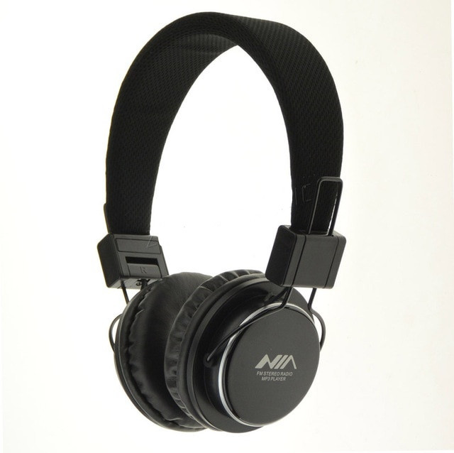 Наушники Nia MRH-8809S складной микро SD / FM радио / MP3 плеер стерео гарнитура