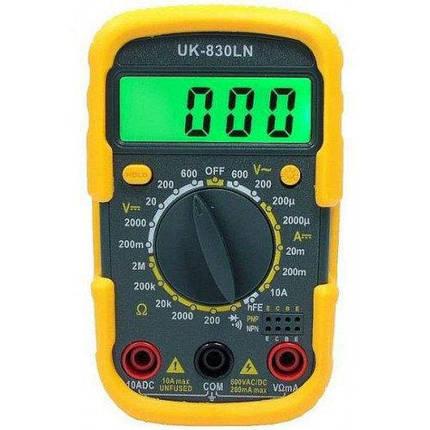Электронный цифровой мультиметр   Тестер UK- 830 LN, фото 2