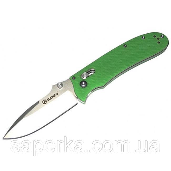 Нож складной Ganzo G704, зеленый