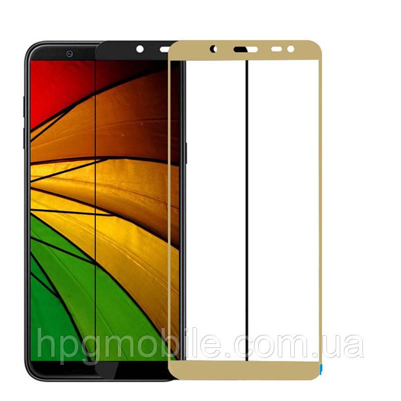 Защитное стекло 5D Full Glue на весь экран для Samsung Galaxy J8 (2018) J810