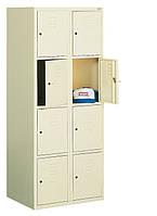 Ячеечный металлический шкаф (локер) на 8 отделений