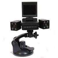 Видеорегистратор на две камеры Two Camera Car DVR