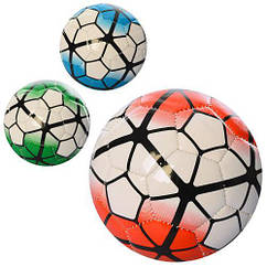 Мяч футбольный, размер 2, МИНИ, ПВХ, 2,7мм, 100г, 3 цвета, в пак. 12см (100шт)