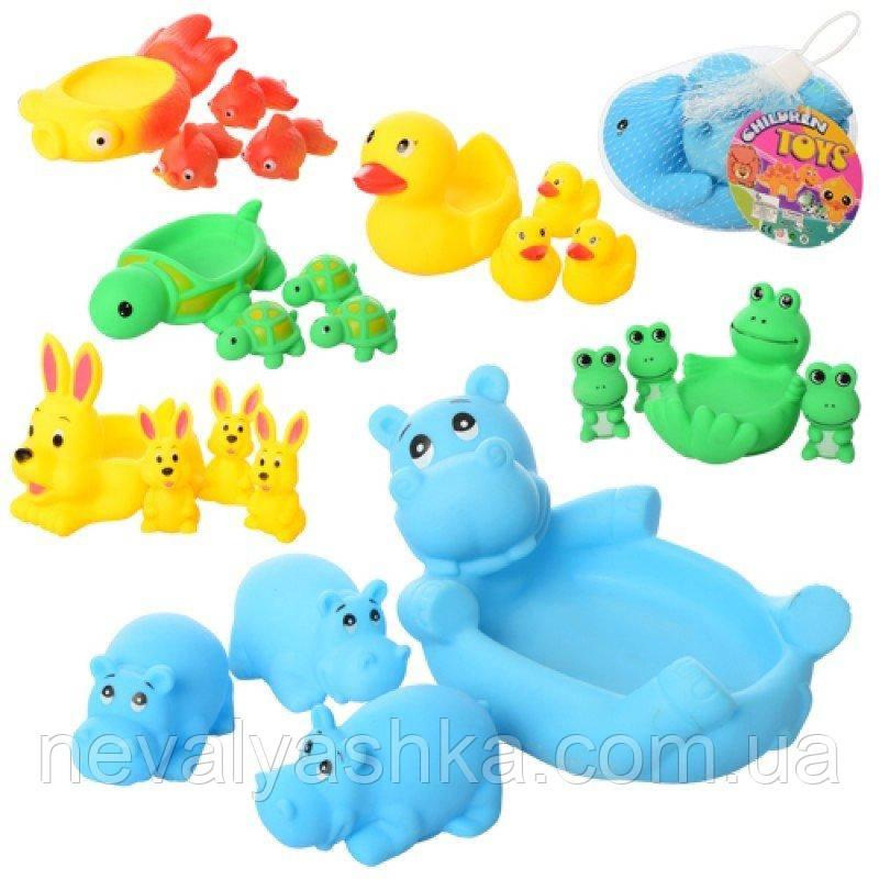 Для Ванной Игрушки Животные Резиновые Набор Для Купания Пищалки для купания Уточки, 522-3-4, 006722