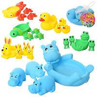 Для Ванной Игрушки Животные Резиновые Набор Для Купания Пищалки для купания Уточки, 522-3-4, 006722, фото 1