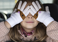 Перчатки глазки. Девочка, мальчик. Размер S на 3-5 лет , М на 5-8 лет. Завоз от 22.11.18, фото 1