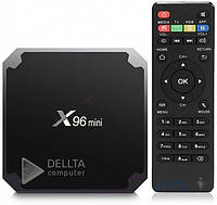 ТВ приставка X96 mini 1/8 Gb, 4 ядерна на Android 7.1.2, micro SD, HDMI, пульт ДУ, приставки