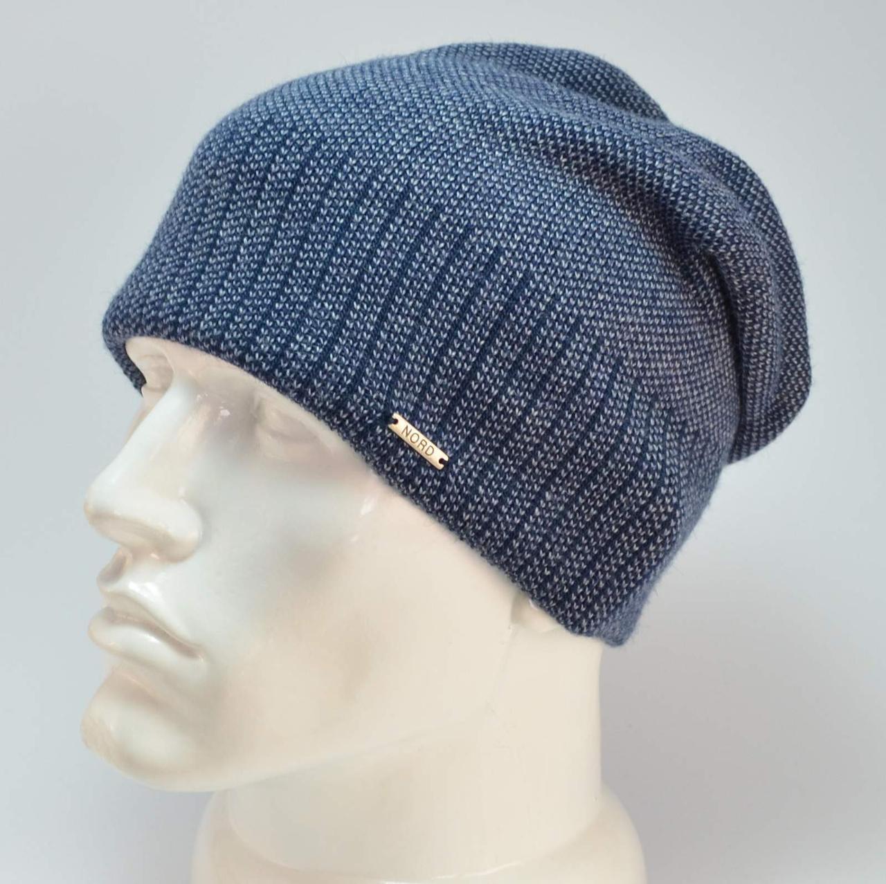 Мужская шапка Nord с кнопкой