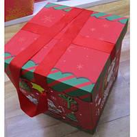 """Коробка подарочная картонная """"Santa"""" R87114, размер 20*20см, разные цвета, коробка для подарков, подарочная коробка, коробочки"""