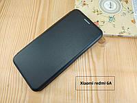 Черная магнитная чехол-книжка для Xiaomi redmi 6A с визитницей