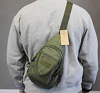 Тактическая, штурмовая, военная, универсальная, городская сумка на 5-6 литров Olive (727-GK), фото 1