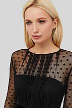 Женское черное платье с сеткой в горох (Marea crd), фото 2