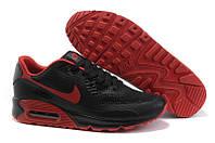 Мужские кроссовки Nike Air Max 90 Hyperfuse черные с красным, фото 1