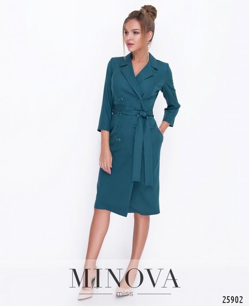 Ділова сукня-піджак з креп-костюмки