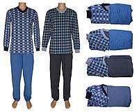 Костюм домашний мужской для сна и дома 18204 Pocket Soft Grey&Blue коттон начес, р.р.44-62