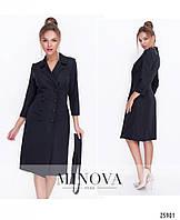Ділова сукня-піджак з креп-костюмки, фото 1
