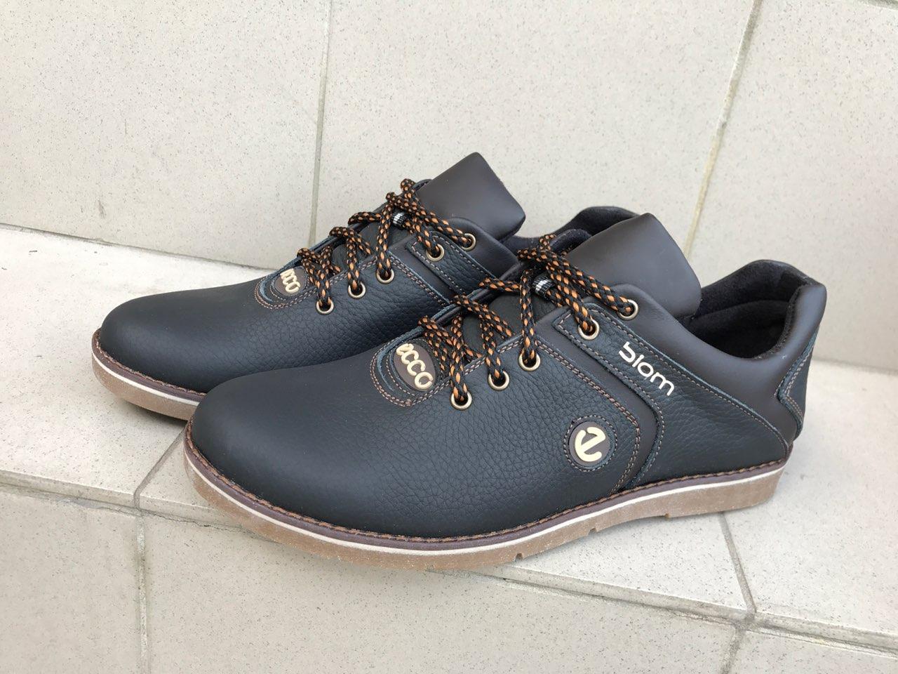 2a6a8ae9 Мужские кожаные туфли кроссовки Ecco экко черные - Первый обувный Харьков в  Харькове