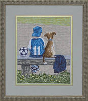 Набор для вышивки нитками на канве Вратарь КИТ 40410