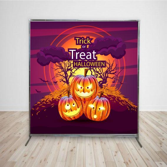 Баннер на Хеллоуин три тыквы 2х2 м