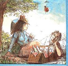 Салфетка декупажная Пикник с любимым 4321