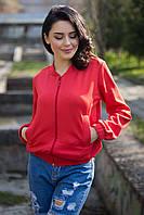 Красный бомбер Nikkie с врезными карманами