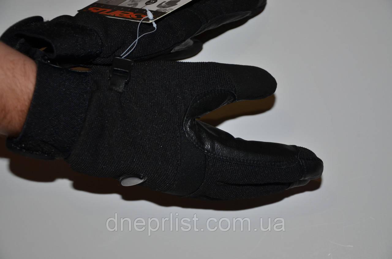 Перчатки утепленные Ultralite Multi Sport ,(M-XL) черные (кожа+текстиль)