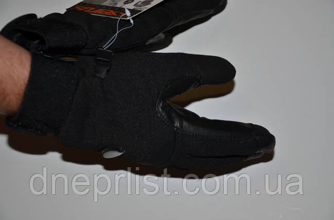 Перчатки утепленные Ultralite Multi Sport ,(M-XL) черные (кожа+текстиль), фото 2