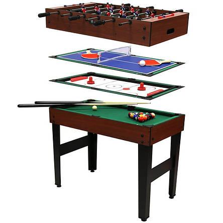 Игровой стол Super Fun 4 В 1 - Аэрохоккей, Настольный футбол, Мини бильярд, фото 2