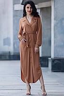 Льняное платье AAREN с отложным воротником и поясом