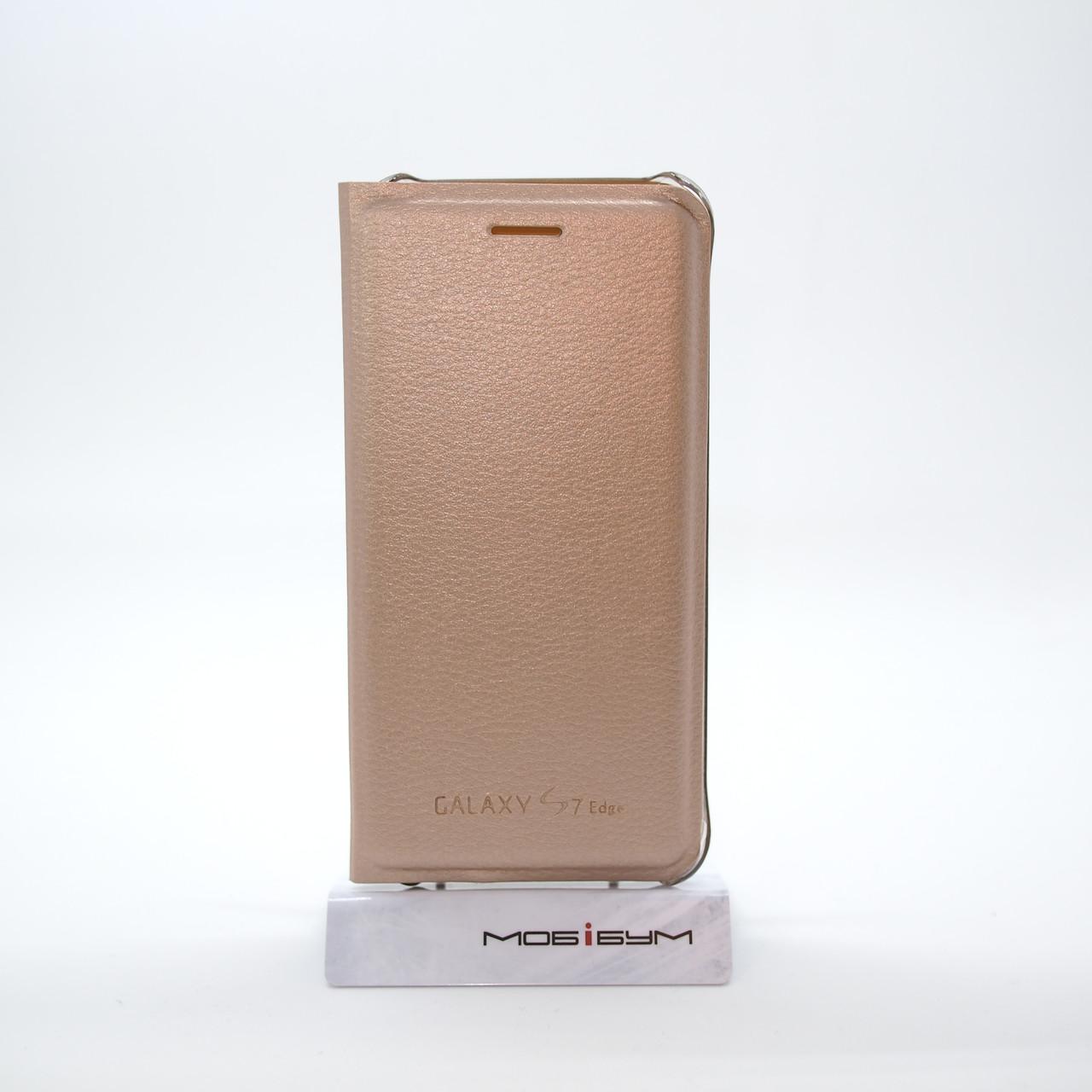 Чехол Book-case Samsung S7 Edge G935 gold