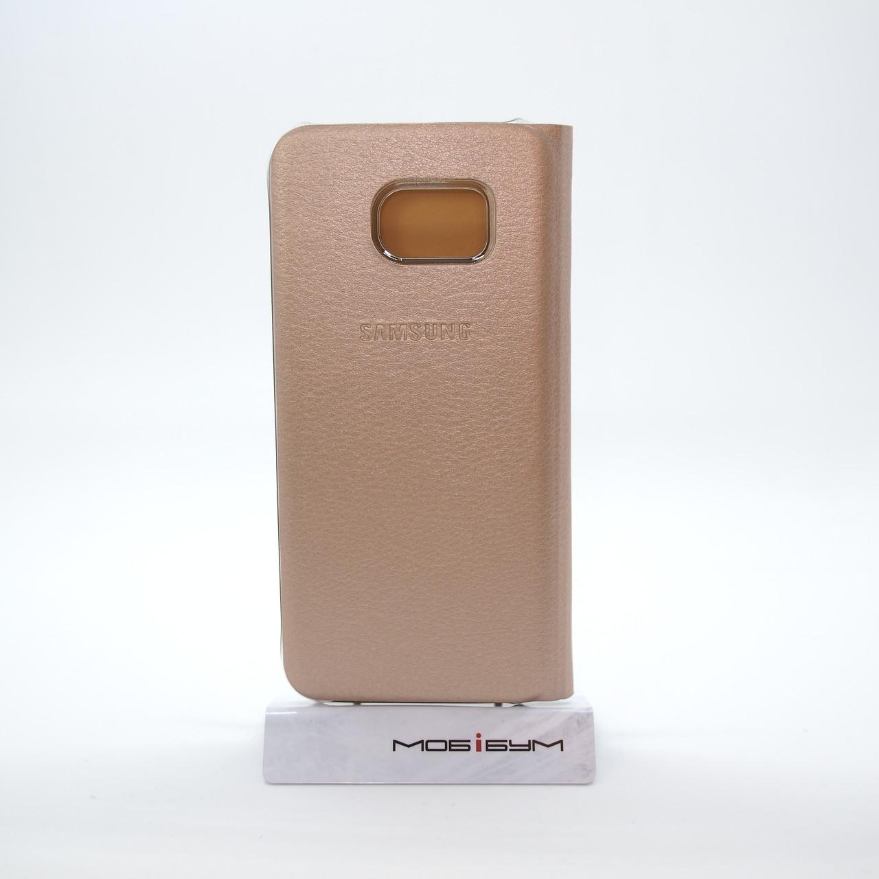 Чехол Book-case Samsung S7 Edge G935 gold Galaxy Для телефона Золотой